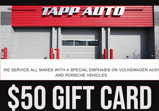 Tapp Auto: Auto service credit - oil change or tire change