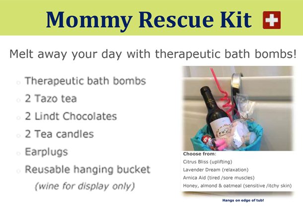 Mommy Rescue Kit - Hand-made bathbombs