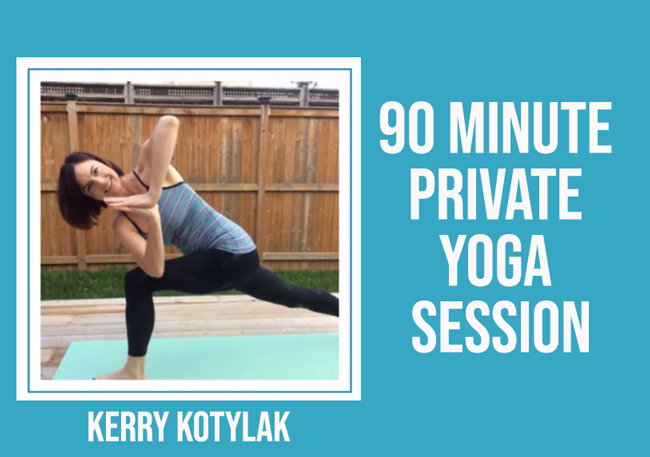 Kerry Kotylak - 90 Minute Private Yoga Session