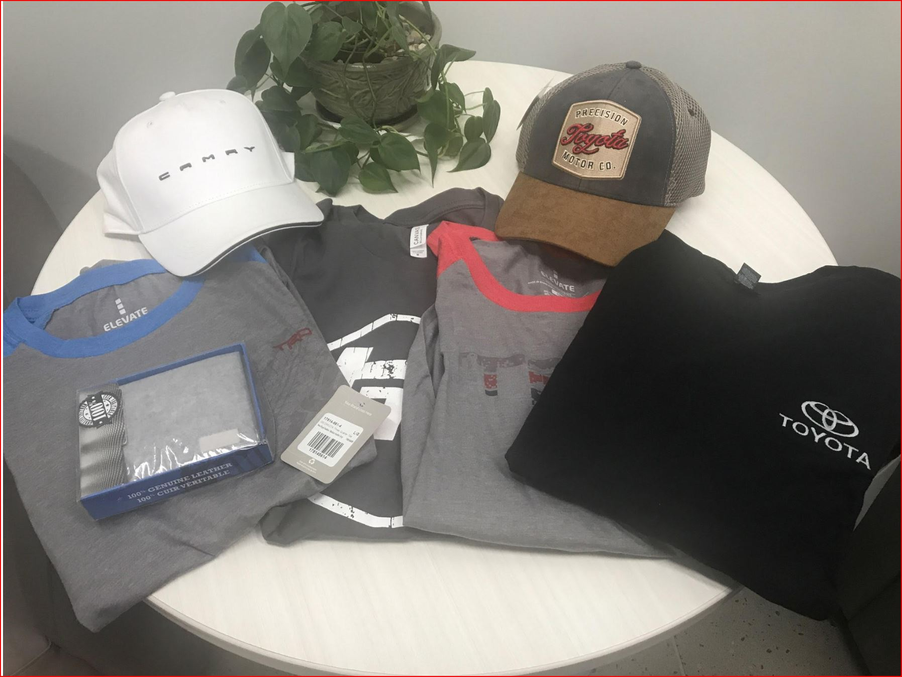 Toyota Package: 4 T-shirts- 2 Hats - Leather Wallet