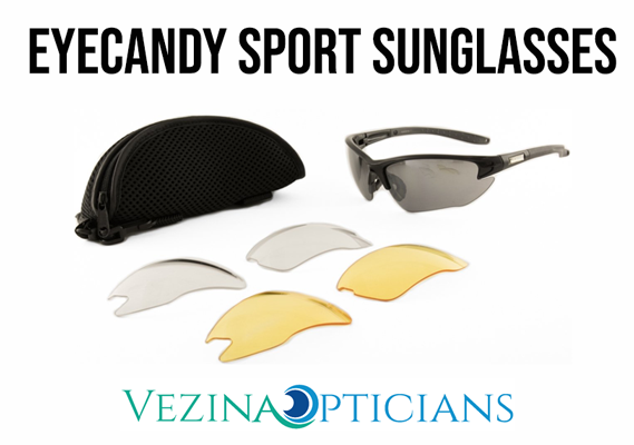 Eye Candy Sport Sunglasses w/multiple lenses