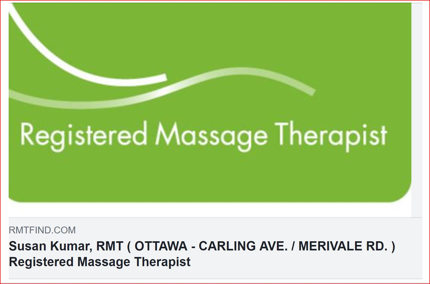 Registered Massage Therapy Gift Certificates  for 75 minutes